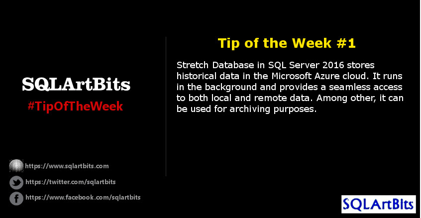 Weekly SQL Server Tip 1 by SQLArtBits